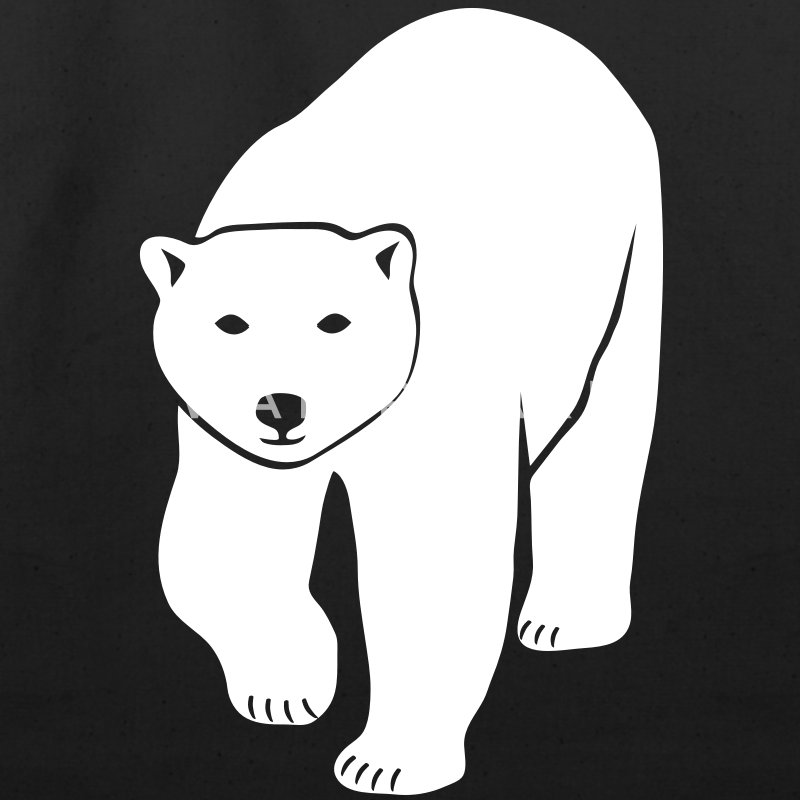 polar bear ice black white penguin knut climate change stop global warming Bags  - Eco-Friendly Cotton Tote