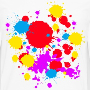 Colors Paint Splatter - Unisex Graffiti Spatter Graphic Design - Multicolor  - Men's Premium Long Sleeve T-Shirt