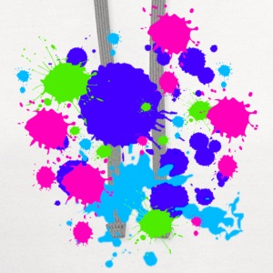 Colors Paint Splatter - Unisex Graffiti Spatter Graphic Design - Multicolor  - Contrast Hoodie