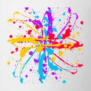 Colors Paint Splatter - Unisex Graffiti Spatter Graphic Design - Multicolor - Coffee/Tea Mug