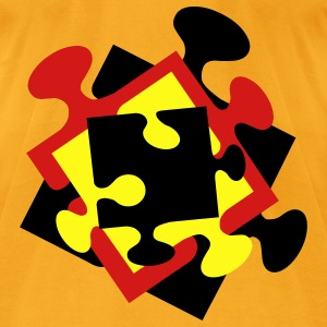 4 Jigsaw Pieces - Men's T-Shirt by American Apparel