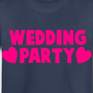 wedding party new cartoonist with love hearts Kids' Shirts - Toddler Premium T-Shirt