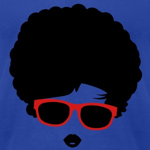 A girl with afro hairstyle and sunglasses Tanks - Men's T-Shirt by American Apparel
