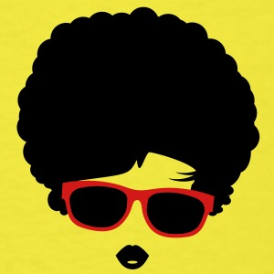 A girl with afro hairstyle and sunglasses Baby Bodysuits - Men's T-Shirt