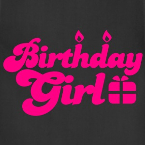 birthday girl new with present Athletic Wear - Adjustable Apron