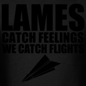 Lames Catch Feelings We Catch Flights Long Sleeve Shirts - stayflyclothing.com - Men's T-Shirt