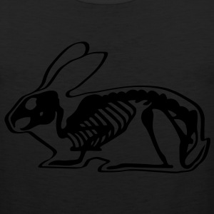 Ray X x-ray rabbit cony hare bunny bunnies long ear skeleton carcass bones roentgen death jack rabbit Kids' Shirts - Men's Premium Tank