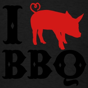I love BBQ Long Sleeve Shirts - Men's T-Shirt