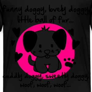 funny doggy, lovely doggy, little ball of fur Kids' Shirts - Toddler Premium T-Shirt