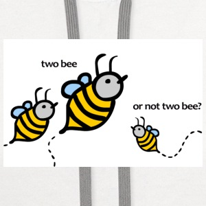 Two Bee or not Two Bee? - Contrast Hoodie