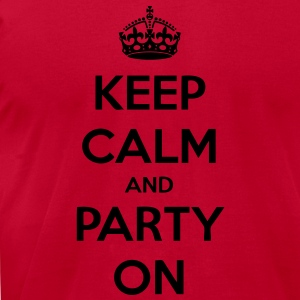 Keep Calm And Party On Long Sleeve Shirts - stayflyclothing.com - Men's T-Shirt by American Apparel
