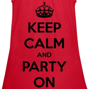 Keep Calm And Party On Women's T-Shirts - stayflyclothing.com - Women's Flowy Tank Top by Bella