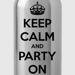 Keep Calm And Party On Women's T-Shirts - stayflyclothing.com - Water Bottle