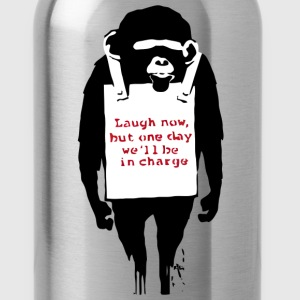 Banksy Laugh Now Monkey T-Shirts - Water Bottle