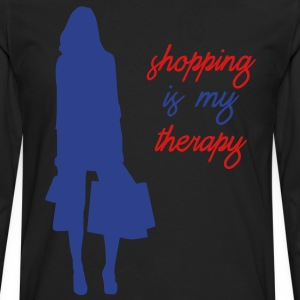 Shopping is My Therapy - Men's Premium Long Sleeve T-Shirt