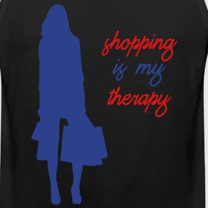 Shopping is My Therapy - Men's Premium Tank