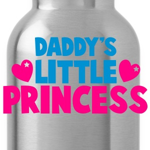 daddy's little princess with love hearts Zip Hoodies/Jackets - Water Bottle