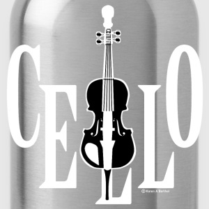 Cello In Cello White T-Shirts - Water Bottle