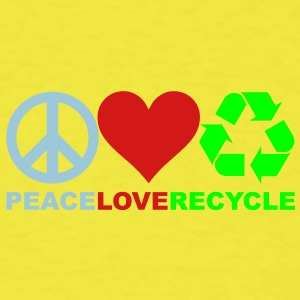 Peace Love Recycle Shirt - Men's T-Shirt