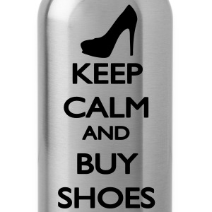 Keep Calm and buy Shoes Women's T-Shirts - Water Bottle