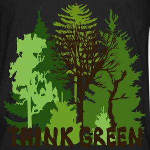 EARTHDAYCONTEST Earth Day Think Green forest trees wilderness mother nature Bags  - Men's Premium Long Sleeve T-Shirt