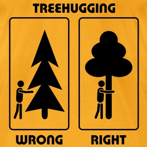 eco bag treehugging treehugger tree hug love earth day EARTHDAYCONTEST - Men's T-Shirt by American Apparel