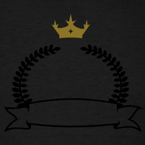 laurel wreath, banner & crown (2c) Long Sleeve Shirts - Men's T-Shirt