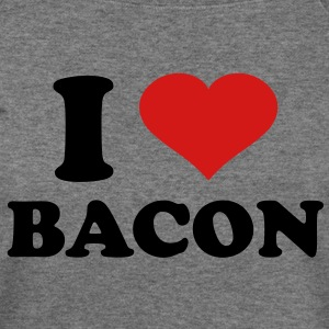 I Love Bacon - Women's Wideneck Sweatshirt