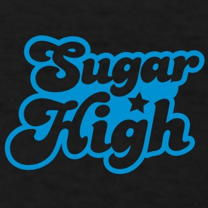 sugar high blue in a funky font Caps - Men's T-Shirt