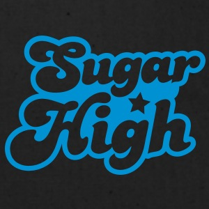 sugar high blue in a funky font Caps - Eco-Friendly Cotton Tote