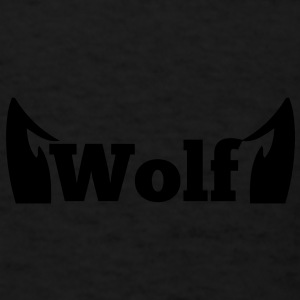 wolf in type with cute ears Caps - Men's T-Shirt