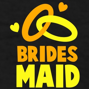 BRIDES MAID with cute love hearts and rings Caps - Men's T-Shirt