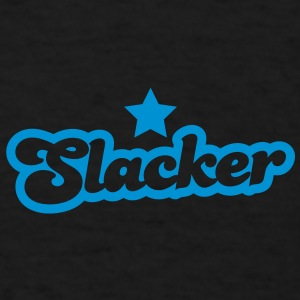 slacker lazy bum design with a star Caps - Men's T-Shirt
