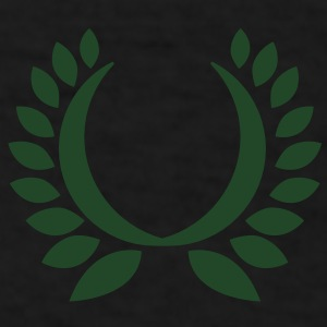 simple wreath with green leaves  Caps - Men's T-Shirt