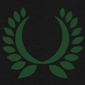 simple wreath with green leaves  Caps - Men's Premium T-Shirt