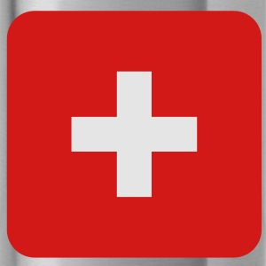 MEDIC white cross on a red button square rectangle Caps - Water Bottle
