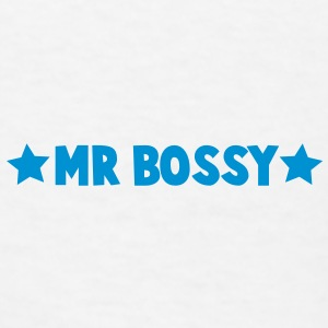 MR BOSSY with stars Caps - Men's T-Shirt