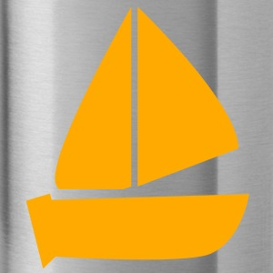plain sailboat boating icon Caps - Water Bottle