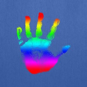 Hand print - Rainbow - Imprint, Fingerprint, palm, high five perfect for hoodies, tshirts, tanks, iphone cases, ipad cases, etc!  Hoodies - Tote Bag
