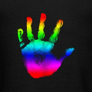 Rainbow Handprint Graphic Design for Women and Teen Girls Hooded Sweatshirt - Men's T-Shirt