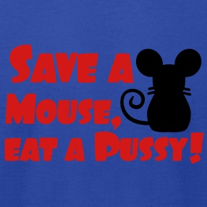 Save a Mouse, eat a Pussy Tanks - Men's T-Shirt by American Apparel