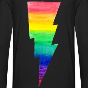 Rainbow Lightning Bolt - no outlines Hoodies - Men's Premium Long Sleeve T-Shirt