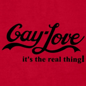 GAY-LOVE IS THE REAL THING! - Men's T-Shirt by American Apparel