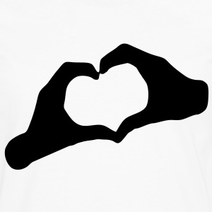 LOVE - Hands Heart - HEART - AMOUR - AMOR - HandHeart - Hands - Heart - SHIRT - Men's Premium Long Sleeve T-Shirt