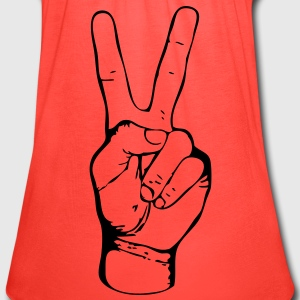 PEACE - FREEDOM - LIBERTY - JUSTICE - handsign - hand - sign - SHIRT - Women's Flowy Tank Top by Bella