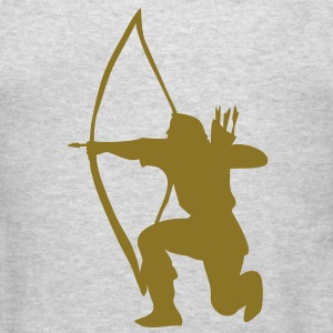 longbow english archer medieval symbol Long Sleeve Shirts - Men's T-Shirt