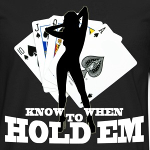 poker know when to hold em - Men's Premium Long Sleeve T-Shirt