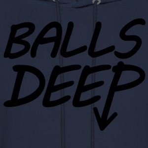 Balls Deep (White) - Long Sleeve - Men's Hoodie