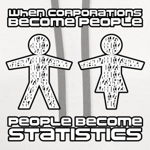 Corporations Vs People T-Shirts - Contrast Hoodie