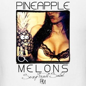 pineapple and melons Buttons - Men's T-Shirt